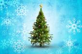 Composite image of christmas tree on white background — Stock Photo