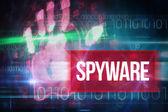 Spyware against blue technology design — Stock Photo