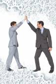 Unified business team high fiving each other — Stock Photo