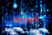 Word security and mature businessman — Stock Photo