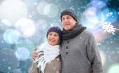 Mature winter couple — Foto Stock