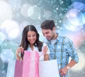 買い物袋をカップルします。 — ストック写真
