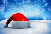 Composite image of santa hat — Stock Photo