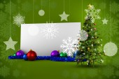 Composite image of poster with christmas tree — Stock Photo