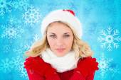 Happy festive blonde — Stock Photo