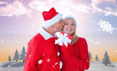 Festive couple — Stock Photo