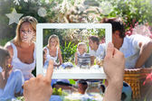 Family having fun in picnic — Stockfoto