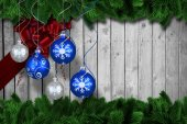 Digital hanging christmas bauble decoration — Stock fotografie