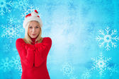 Happy festive blonde — Стоковое фото