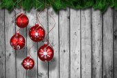 Digital hanging christmas bauble decoration — ストック写真