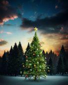Composite image of christmas tree — Stockfoto