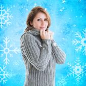 Pretty girl in jumper — Stock Photo