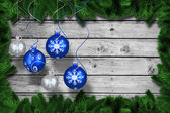 Digital hanging christmas bauble decoration — Photo