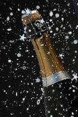 Top of champagne bottle — Stock Photo