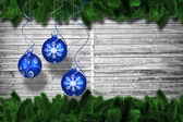 Digital hanging christmas bauble decoration — 图库照片