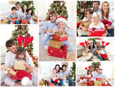 Families celebrating christmas — Foto de Stock