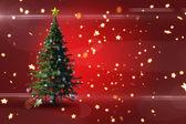 Composite image of christmas tree — Stock Photo