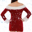 Santa girl standing with hands on hips — Stock Photo #53902239