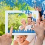 Happy family in the park — Stock Photo #53902495