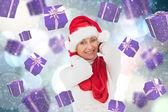 Composite image of festive woman  — Stockfoto