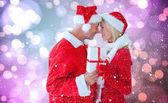 Festive couple — Stock Photo