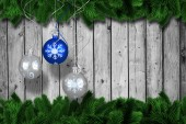 Digital hanging christmas bauble decoration — Photo