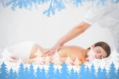 Woman receiving back massage at spa  center — Stockfoto