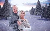 Mature winter couple — Stock Photo