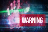 Warning against blue technology design — Stock Photo