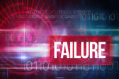Failure against blue technology design — Stock Photo