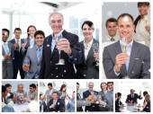 Business people celebrating success — Foto Stock