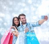 Happy couple taking selfie — Stock Photo
