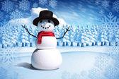 复合图像的雪人 — 图库照片