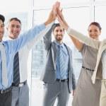 Employee's celebrating a good job — Stock Photo #53916035
