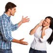 Aggressive man overpowering his girlfriend — Stock Photo #53916193