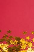 золотая звезда украшения, разложить — Стоковое фото