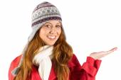 Pretty redhead in warm clothing — Stock Photo