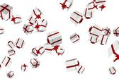 White and red christmas presents — Stock Photo