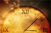 Digitally generated roman numeral clock — Stock Photo