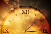 Digitally generated roman numeral clock — Stock Photo