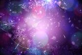 Purple snow flake pattern design — Stock Photo