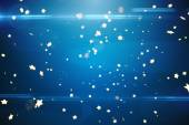 Bright star pattern on blue — Stock Photo