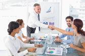 Introduzione nuovo impiegato uomo d'affari — Foto Stock