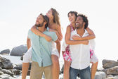 Gorgeous friends having fun together — Stock Photo
