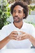 Thoughtful man having a coffee  — Stock Photo