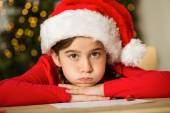 Little girl waiting for santa — Foto Stock