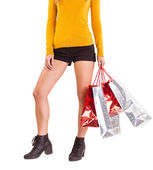 Stylish woman with shopping bags — Stock Photo