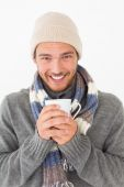 Handsome young man in warm clothing — Stock Photo