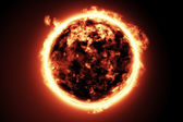 Large fire ball of the sun — Stock Photo
