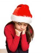 Festive little girl feeling sad — Stockfoto